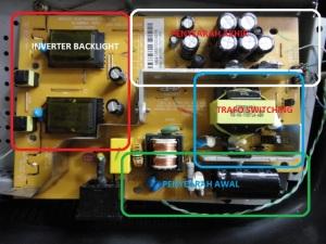 Blok Rangkaian Regulator LCD Monitor